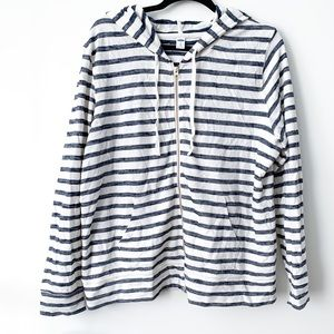 Striped Zip Sweater // Old Navy